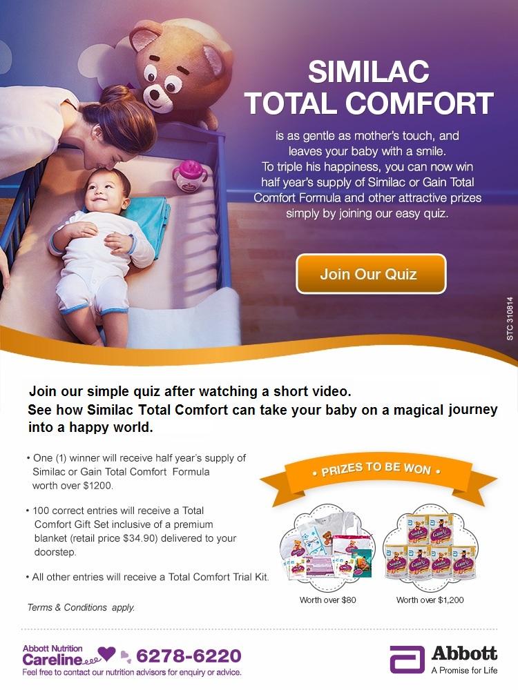 Win Half Year's Supply of Similac or Gain Total Comfort Formula