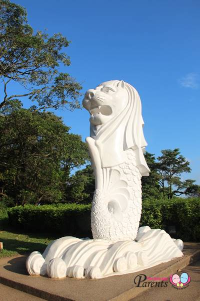 small merlion at Mount Faber