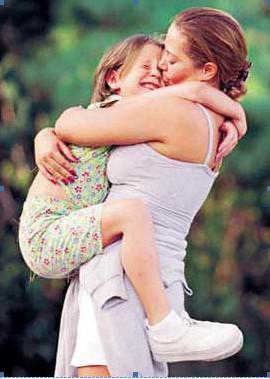 importance of hugging child
