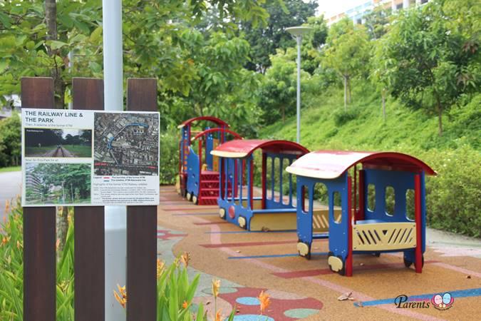 rumah tinggi train playground