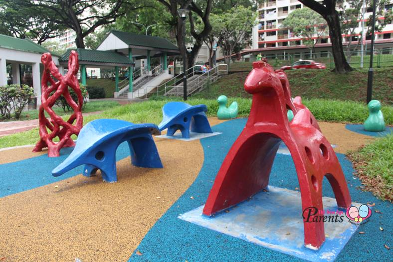 colourful vintage animal playground