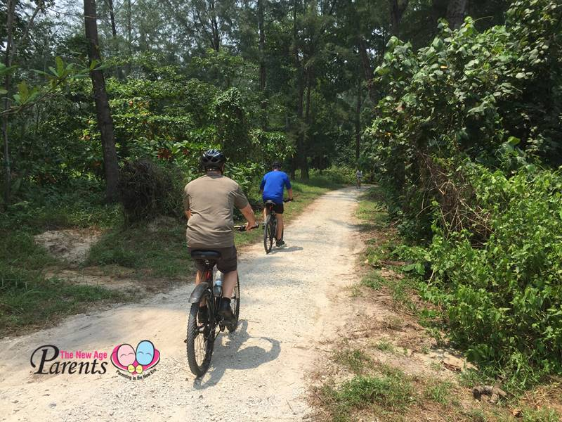 cycling in coney island singapore