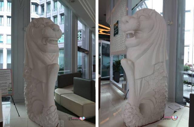 merlion statue singapore tourist board