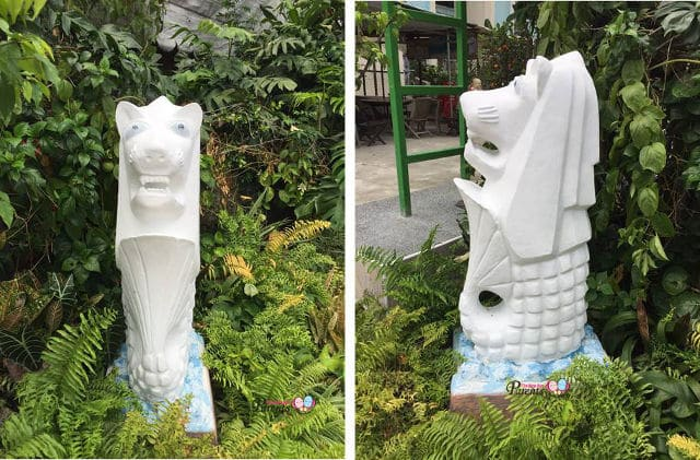 woodlands merlion statue