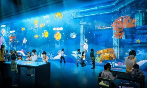 doodle aquarium at MOSH Sentosa