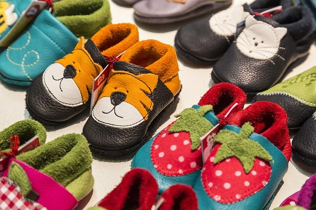 buying shoes for children