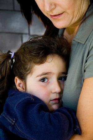 clinging child