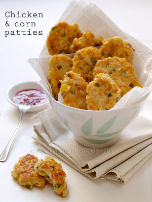 Chicken Corn Patties by Lai Kuan