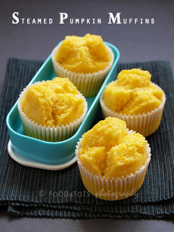 Recipe picture -steamed pumpkin muffin-new-age-parents