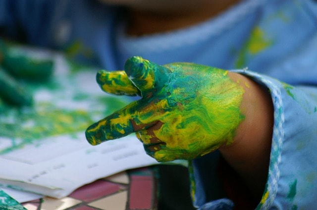 body part painting activities for children
