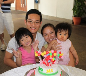 Dr Claudine Tan with her family