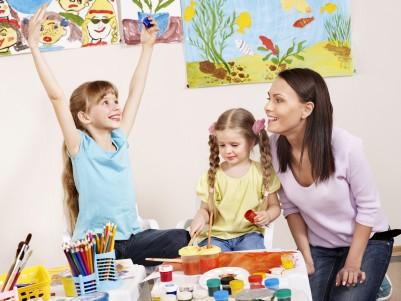 confident children in classroom