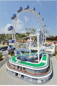 replica of the singapore flyer at LEGOLAND Malaysia
