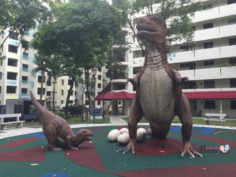 TRex dinosaur playground at kim keat