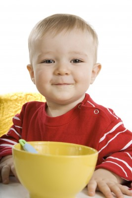 baby and bowl