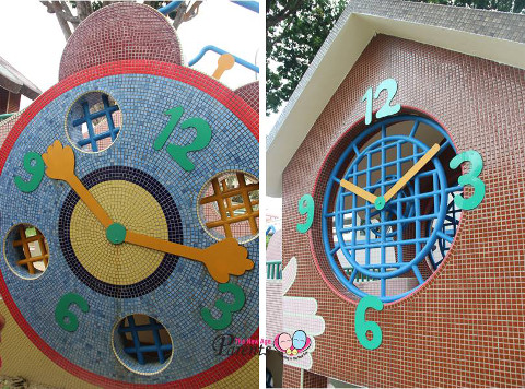 different faces of clock playground bishan