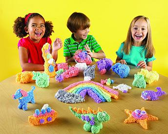 kids playing with playfoam