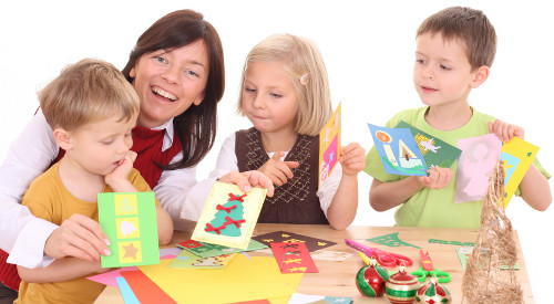 making card with children