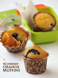 Blue berry orange muffins