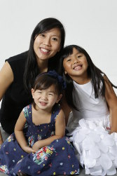 Eileen Yeo and her two girls