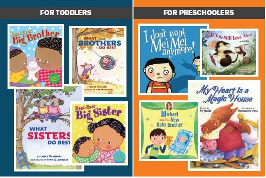 Books for dealing with new siblings