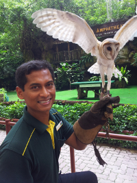 Rashid Jurong Bird Park Trainer, Photo by Wildlife Reserves Singapore