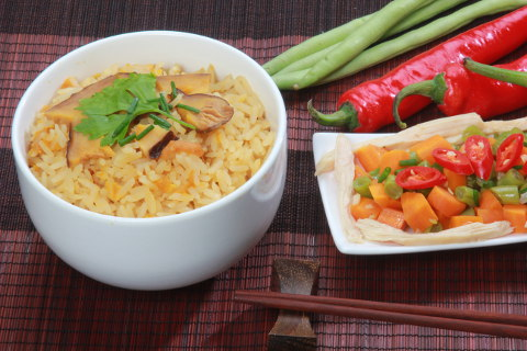 Yamie Pumpkin Rice with vegetables