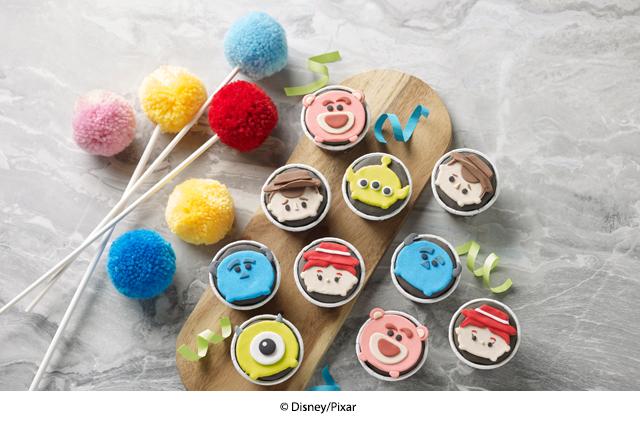 baby full month cupcake disney tsumtsum swissbake