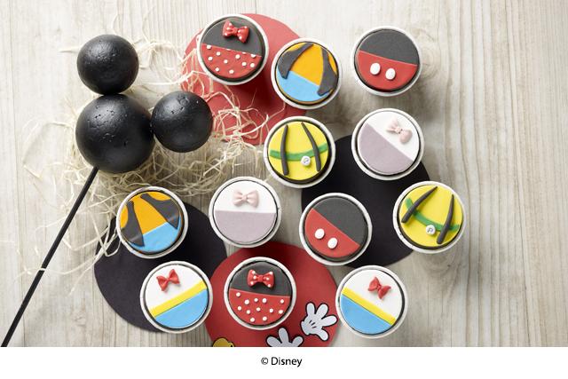 baby full month cupcake swissbake mickey & friends