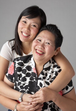 Eileen Yeo and her mother