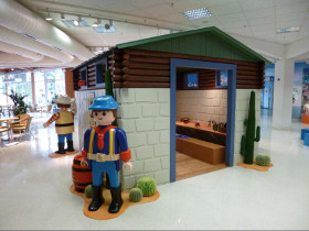 Playmobil life size western house at Sentosa