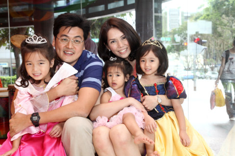 Matthias Koh and his family