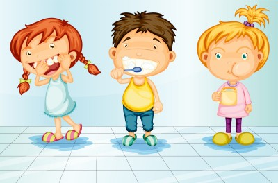 getting children kids to brush teeth