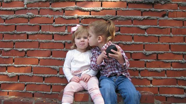 children sharing things