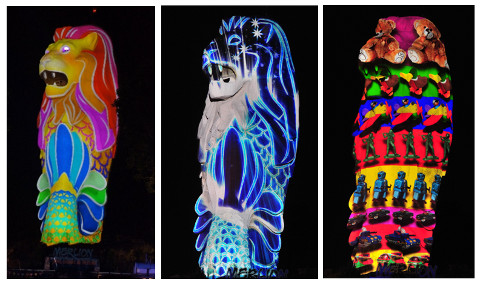 3D Merlion Video Mapping Show