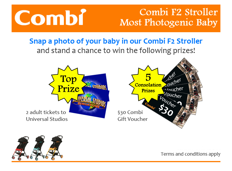 Combi F2 Stroller Photogenic Baby