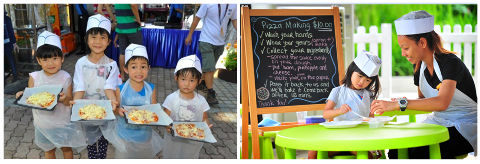 pizza making at Sentosa