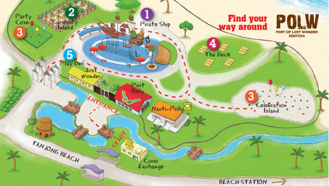 Map of Sentosa Port of Lost Wonder