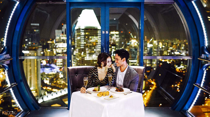 Singapore Flyer Sky Dining Valentines Anniversary