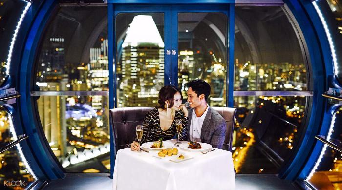 Singapore Flyer Sky Dining Valentines Anniversary