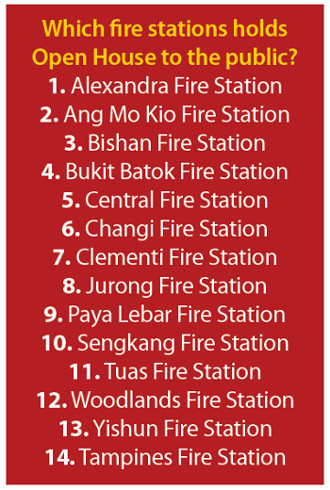 Fire Open House to visit in Singapore