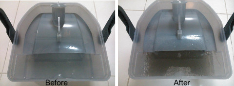 Kärcher DS6000 Vacuum Cleaner water tank before and after Ching Lim