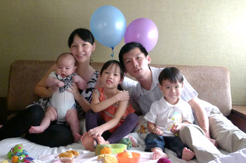June Yong and family