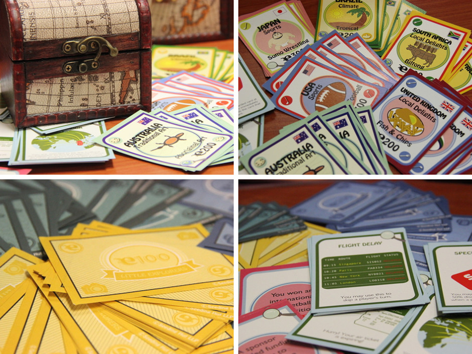 Learning Global Literacy through games - Little Explorers card deck