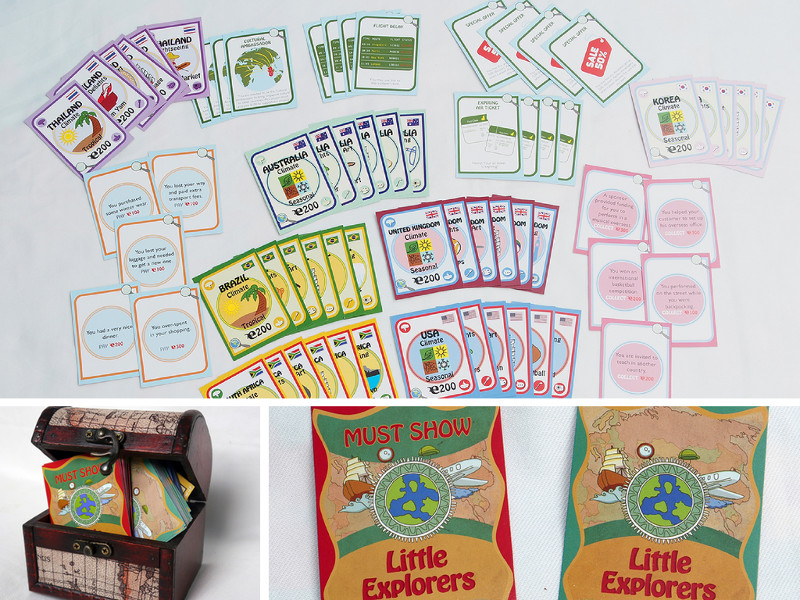 Little Explorers Card Game for children