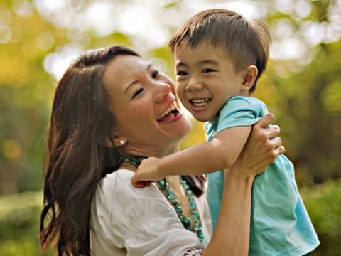 Ruth, mummy blogger and her son