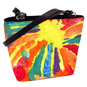 convert your childs art into totebags