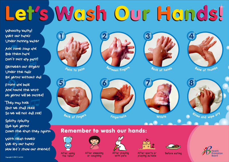 Handwashing poster by Health promotion Board