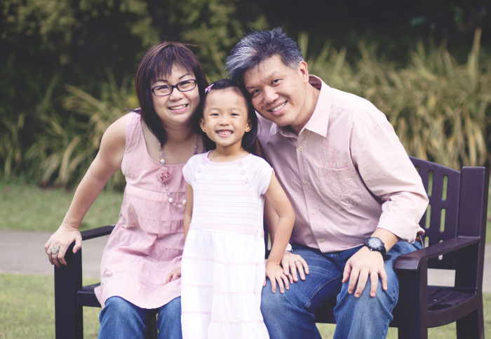 Mummy blogger Angeline Sim and her family, princess dana diaries