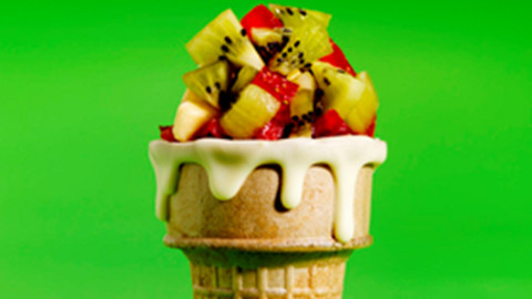 kiwi kid fruit cone
